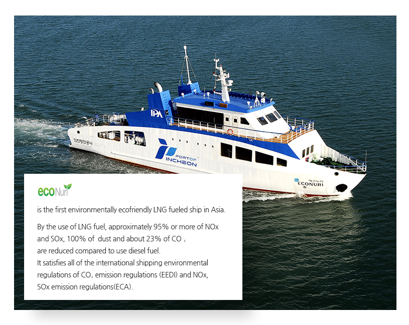 EcoNuri 1st LNG fueled ship in ASIA